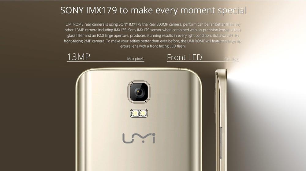 Original UMI Rome 4G LTE Smartphone 5 5Inch HD Android 5 1 MTK6753 Octa Core 1