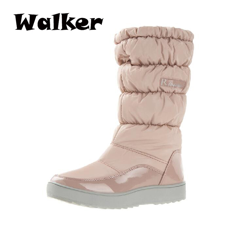 2014 China top brand women winter boots waterproof autumn boots knee-high women leather boots women's winter shoes snow boots
