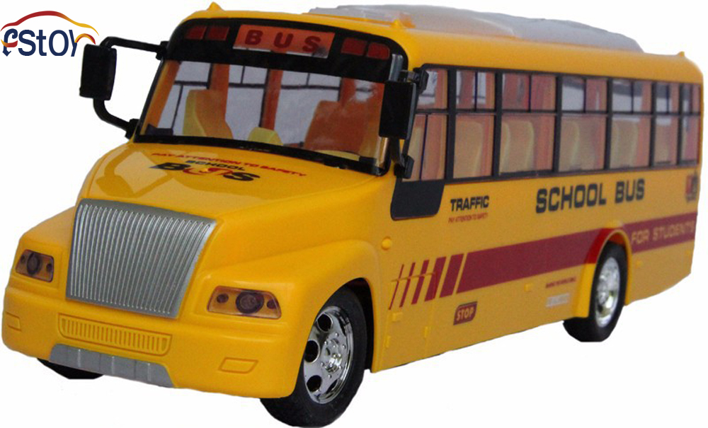 New U.S School Long City Bus Classical Cars Remote Control Shool Bus 4 channel Bus Model RC electronic toy(China (Mainland))