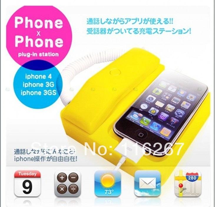 landline phone radiation retro handset handset for Apple iPhone4/4S wholesale(China (Mainland))