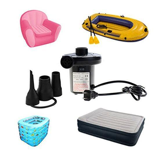 Electric Air Pump for Beds Mattresses Toys Car Auto Dual inflatable boat Air suction Pump gas-fill Air compressor swim pool