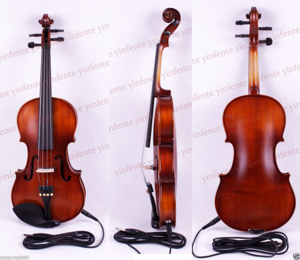 4/4 Electric Violin Acoustic Solid wood Silent Free case rosin #Y2<br><br>Aliexpress