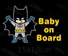 Reflective Car Decoration Superheroes Baby On Board Car Stickers And Decals for Volkswagen Skoda Honda Hyundai Kia Lada