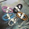 New Snake Texture Leather Usb Cable Data Sync Charger Cable for APPLE iPhone 7 6s 6