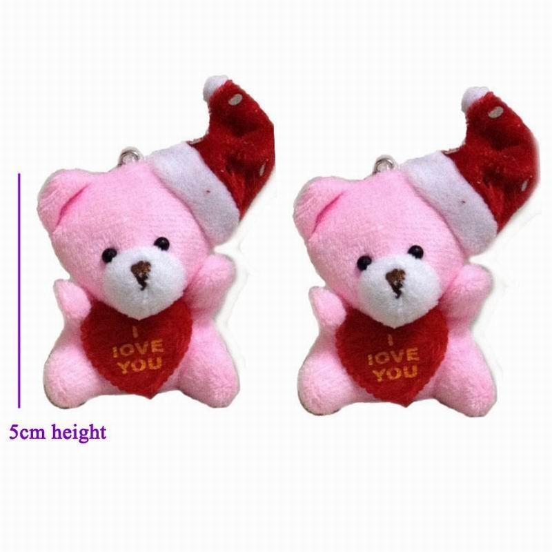 5cm heart teddy bear with hat 6