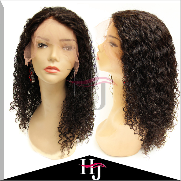 Hot Sales Deep Curl Lace Front Wigs Glueless Full Lace Wig Brazilian Human Hair Wigs Top Quality Virgin Hair Lace Front Wig
