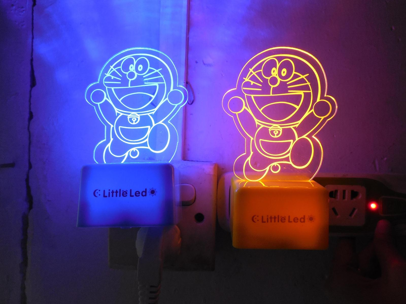 2016 hot selling!3d sensor led night light wall lamp EU US plug home lighting children kids baby toys!! hello kitty Doraemon(China (Mainland))