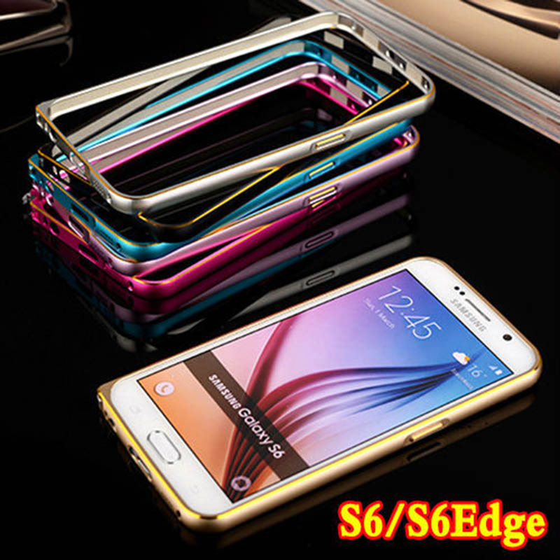 S6/S6 Edge Luxury Aluminum Bumper Case For Samsung Galaxy S6 & S6 Edge G925 Ultra Thin Metal Frame Cover(China (Mainland))