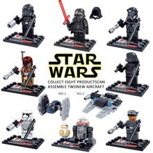 8 pcs/set Star Wars The Force Awakens Movie Star War Kid Baby Toy Mini Figure Building Blocks Sets Model Minifigures Brick