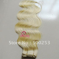Sunnymay blonde body wave hair extension virgin brazilian human hair weft