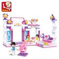 New Sluban Building Blocks Girls Friends Toy Gorgeous Stage minifigures Best Children Gift Compatible with Birthday