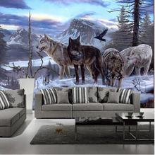 3D mural custom wolf totem animal wallpaper sofa background Wallpaper