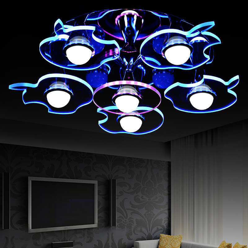 Free shipping LED acrylic ceiling lights Apple type modern brief living room 6 lights 220-240v(China (Mainland))