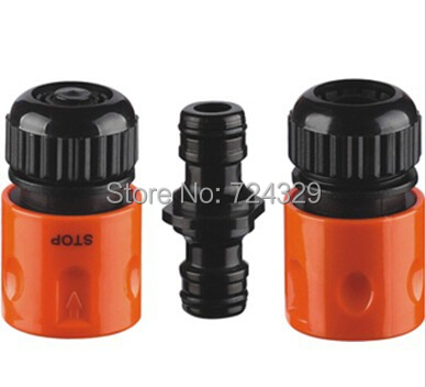 """3pcs 1/2"""" garden hose quick/end connector Car washing gun water pipe connector ejecta plants gardening supplies free shipping(China (Mainland))"""