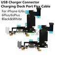 Black White USB Charging Charger Connector Dock Port Flex Cable Replacement Part For iPhone 6 6s