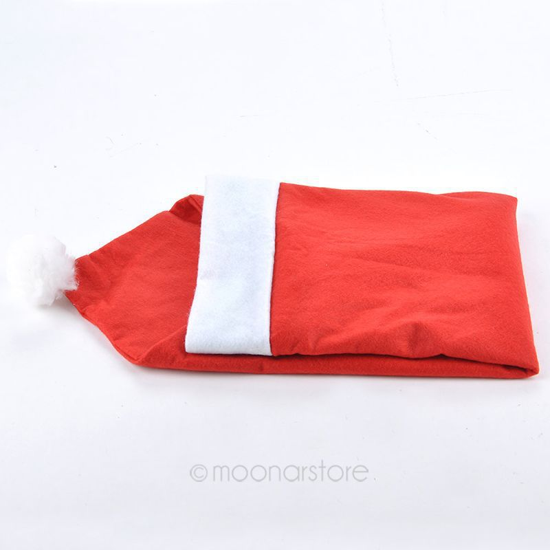 ... Table-Party-Decor-Santa-Claus-Hat-Chair-Back-Covers-Dinner-Table-Decor