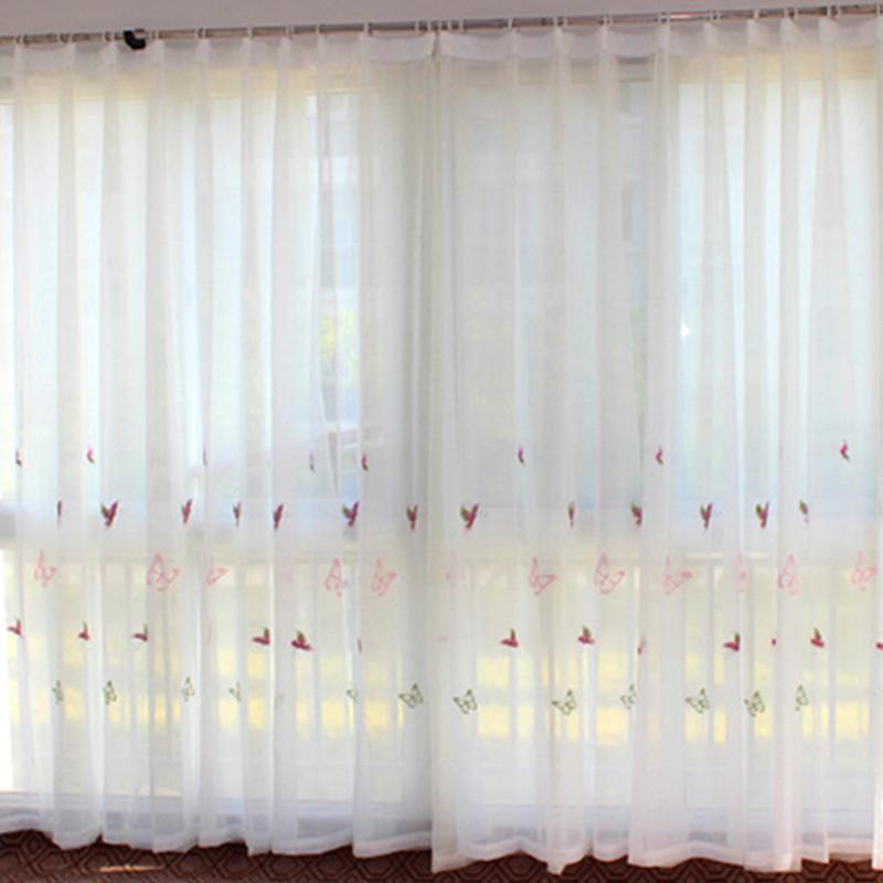 Compra mariposa cortina de tela online al por mayor de - Telas bordadas para cortinas ...