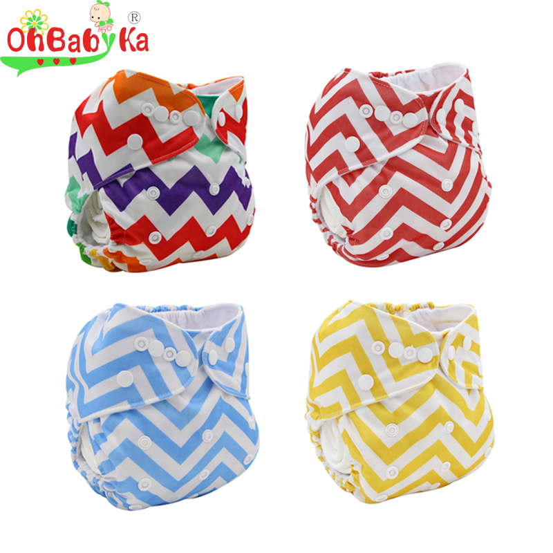 Ohbabyka Baby Diapers 2016 Brand Reusable Nappy Cover Striped Washable Couches Lavable Washable Cloth Diaper Cover Baby Nappies(China (Mainland))