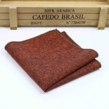 High Quality Hankerchief Scarves Vintage Wool Hankies Men's Pocket Square Handkerchiefs Striped Solid Cotton 23*23cm(China (Mainland))