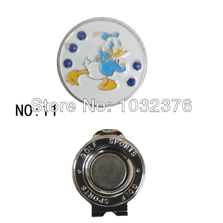 Golf ball mark cartoon magnet hat clip golf products(China (Mainland))
