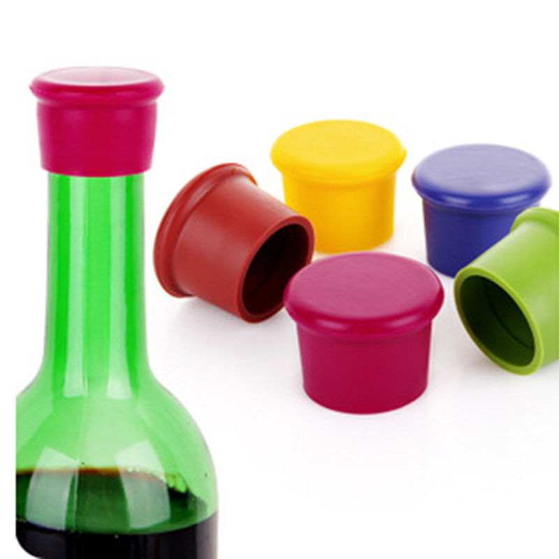 BornIsKing 1Pcs Silicone Bar Wine Stopper, Fresh Keeping Bottle Cap, Flavored Beer/Beverage Corks, Kitchen Champagne Closures(China (Mainland))