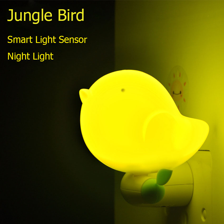 Lovely Jungle Bird Led Smart Light Sensor Night Light 220v