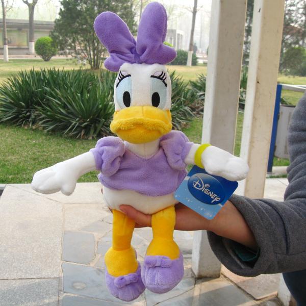 1 pcs / purple bowknot duck Daisy stuffed animals soft toys plush doll 36 CM thh(China (Mainland))