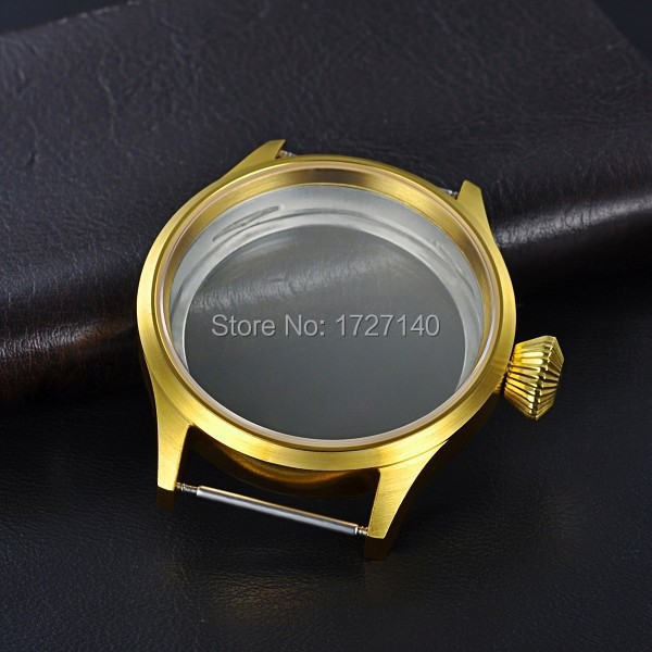 43mm Sapphire Crystal 316L Golden Case Fit With Hand Winding 6497/6498 Movement 010305 Parnis<br><br>Aliexpress