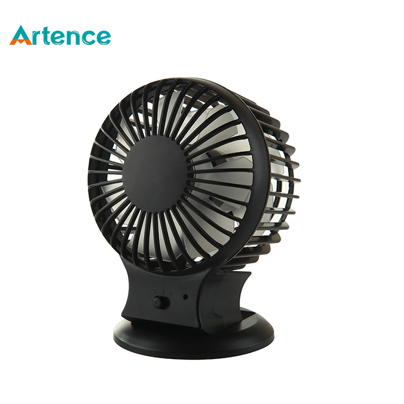 2016 New Rechargeable Pedestal Table Desk USB Fan Silent Mini Fan For Home Office Electric ABS Fans With Double Blades(China (Mainland))