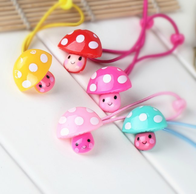 Dot mushrooms Gift children baby girls hair accessories rubber bands barrettes girl headwear Retail wholesale Boutique SF-454(China (Mainland))
