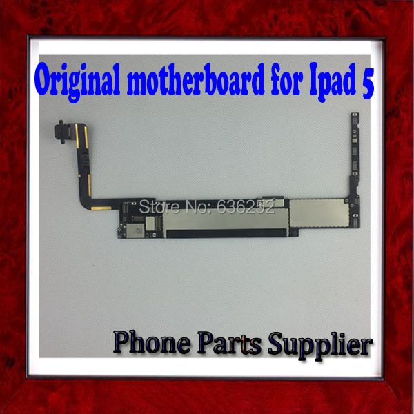 <font><b>16GB</b></font> Original Unlocked Motherboard For <font><b>ipad</b></font> 5 Mainboard with Chips,<font><b>Wifi</b></font> Version & 100% Good Working ,Free Shipping