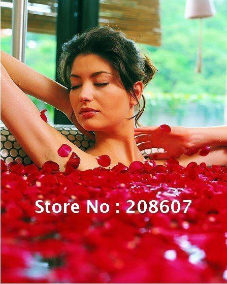 Freeshipping Spa supplies Flower/Skin whitening Makeup Product/ petals bath / petals shower / dried rose petals 400g / bag