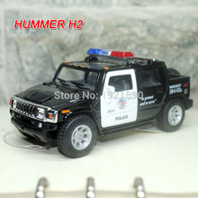 Brand New KINGSMART 1/40 Scale USA Hummer H2 SUT Police Edition Diecast Metal Pull Back Car Model Toy For Gift/Collection/Kids(China (Mainland))