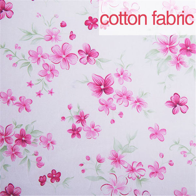 1meter floral printed 100 cotton fabric for sewing rose for Sewing material for sale