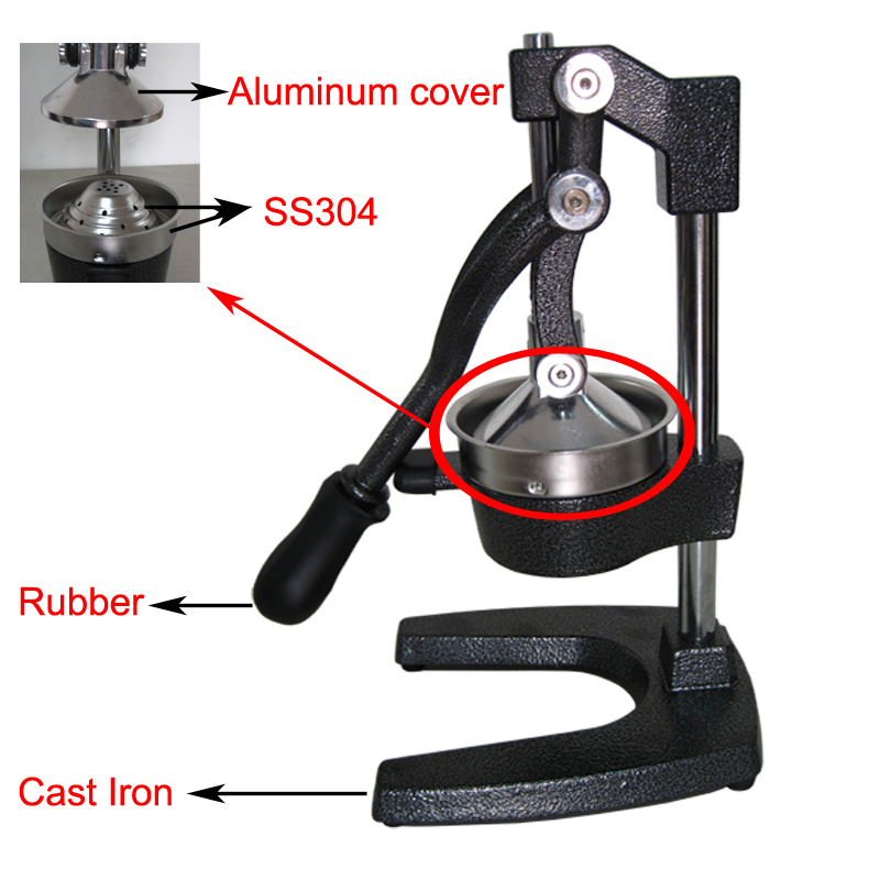 grt cj105 hot fonte presse agrumes manuel la main presse agrumes dans centrifugeuses de. Black Bedroom Furniture Sets. Home Design Ideas