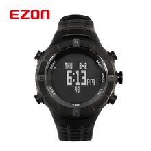 2015 nueva EZON hombre de escalada montañismo reloj deportivo construir en la brújula altímetro barómetro termómetro a prueba de agua / H001