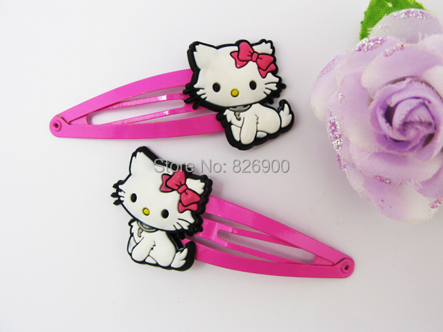 Free Shipping 2 pieces Charmmy Kitty Soft Rubber Hair Clip Cute Barrette ALK260(China (Mainland))