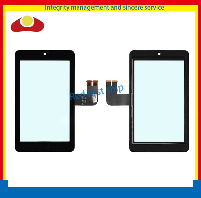 DHL EMS 10Pcs/lot For ASUS MeMO Pad HD7 ME173 ME173X K00b Touch Screen With Digitizer Panel Front Glass Lens Black Color<br>