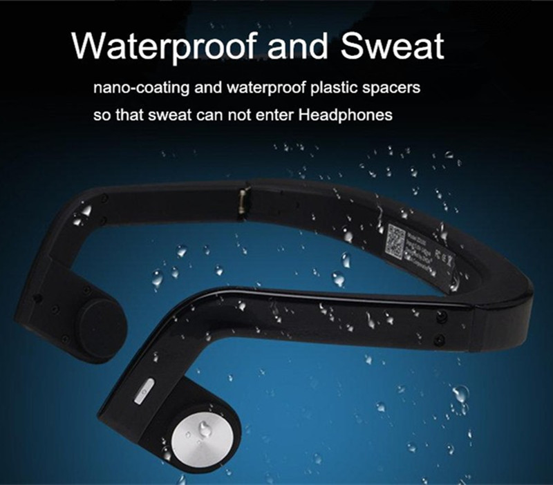 Newest ZS01 waterproof Bone Conduction Sports Wireless Bluetooth Fashion Sport font b Headphone b font Studio