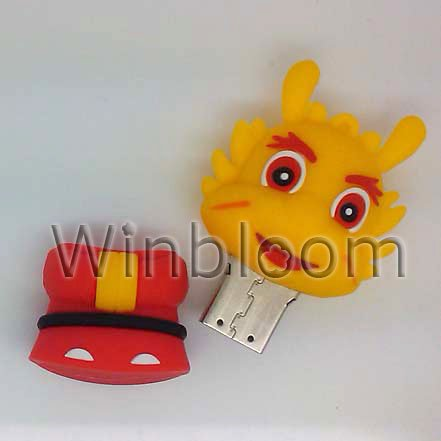 Cartoon Dragon King USB Flash Drive 4GB 8GB 16G Real Capacity PVC Pen Drive PU0008(China (Mainland))