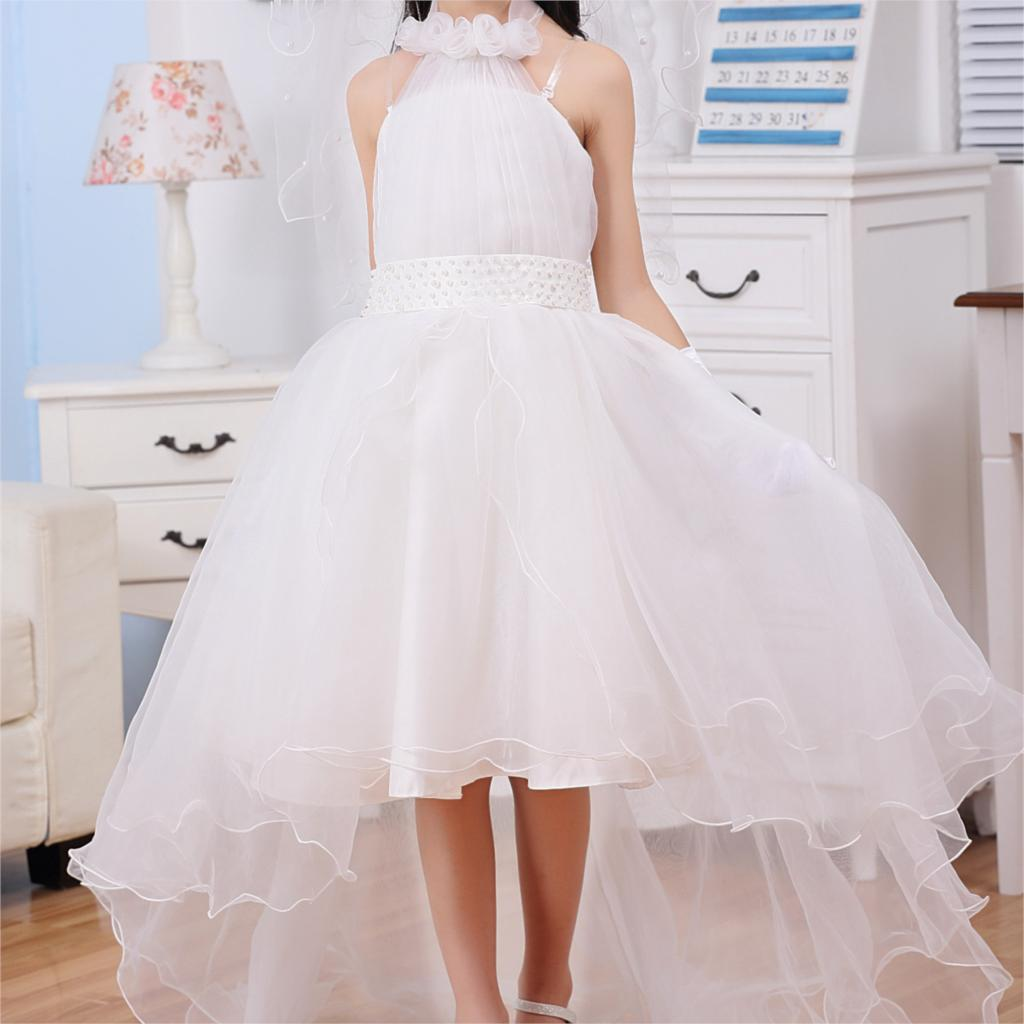 Princess formal dresses fancy dresses for girls white long for 10 year old dresses for weddings