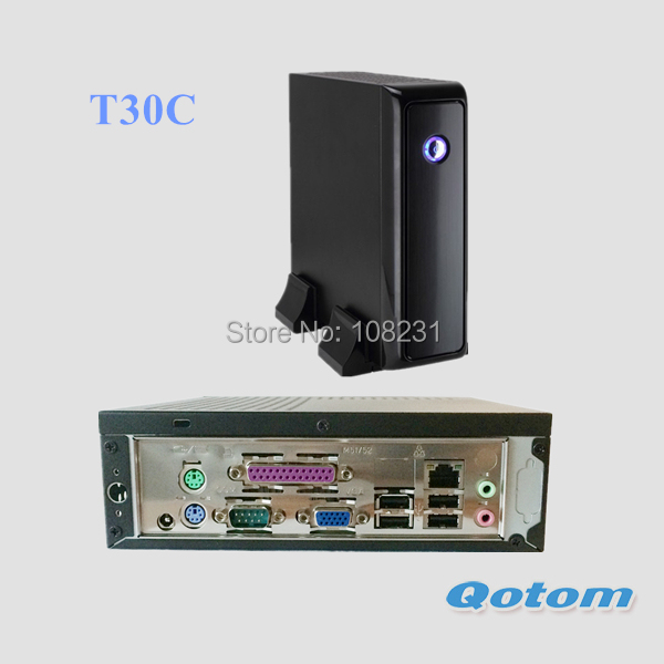 VGA mini PC QOTOM-T30C support DDR3 SO-DIMM Memory and SSD/ 2.5 inch SATA HDD, Tiny computer with COM and LPT port(China (Mainland))
