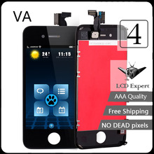 VA LCD mobile phone screen For iphone 4 lcd display Tools Free Shipping GSM Tela Pantalla Replacement Screen Ecran