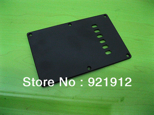 Free shipping Cavity Cover Back Plate Fits  Strat Stratocaster Guitar Style2-BLACK