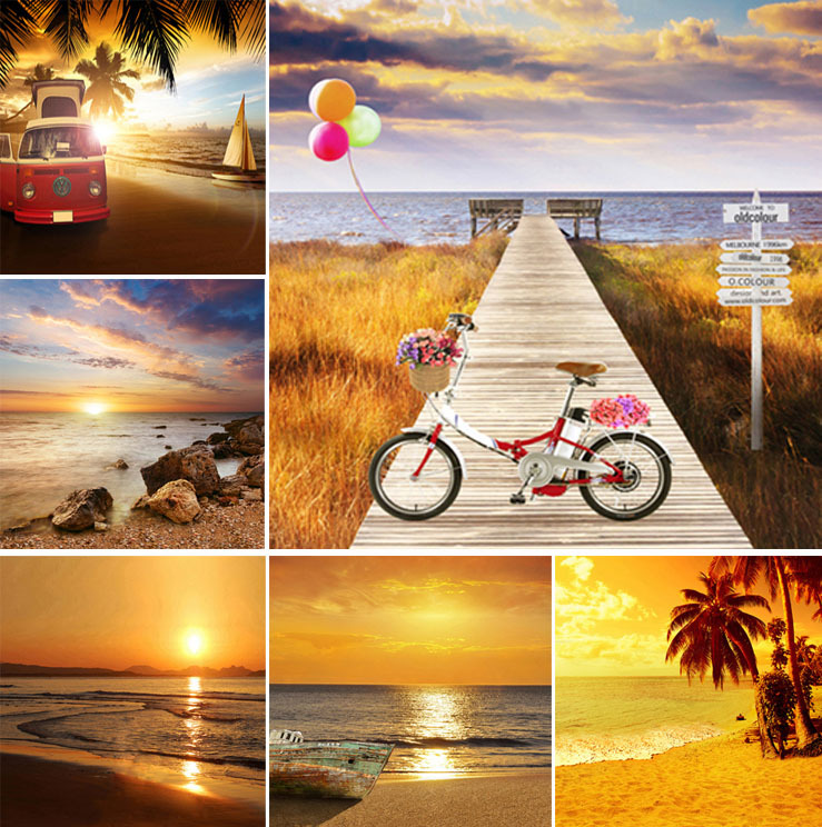 200CM * 300CM backgrounds for photo studio Cloth photography background Childrens photography background sunset sea backdrops 1<br><br>Aliexpress