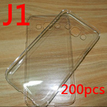 Top quality ! Crystal Clear PC hard case for  Samsung Galaxy J1 phone Free shipping  200pcs/lot
