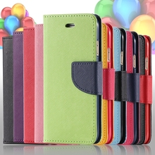 S4/S5/S6 Cases Fashion Hit Color Magnetic Flip PU Leather Phone Case For Samsung Galaxy S3/S4/S7 Card Slot Wallet Holster Cover(China (Mainland))