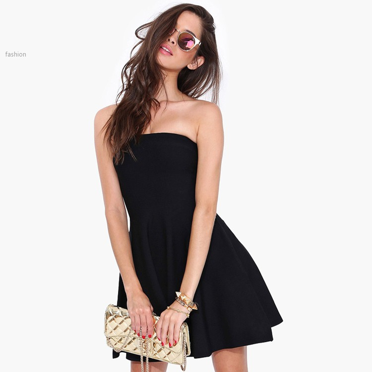 New Faux Leather Dress Women Short Sleeve Summer Sexy Slim Solid Black O