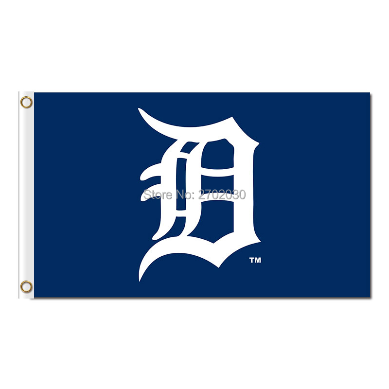 Blue Detroit Tigers Flag Baseball Super Fan Team Banners Major League Flags World Series Champions Banner 3x5ft Champion custom(China (Mainland))