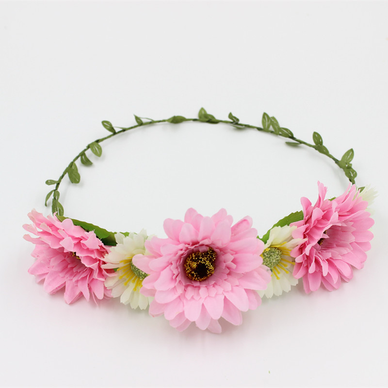 Wedding head flower garland Floral girl tiara artificial flowers beautiful elegance style wreath festival decorations Headband(China (Mainland))